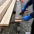 木塀の塗装