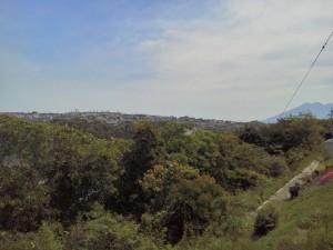 こちらの現場は一昨年の秋頃にお話をいただきました   お施主様が気に入られた土地は 間口は狭いのですが、奥に入ると目の前に木々が 広がり東北東に眺めが良く、特に桜島がよく見える場所にあります。