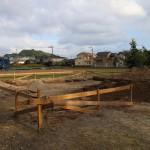 工事もいよいよ本格的に始まりました。 天候に恵まれて、基礎工事も配筋検査も 順調に終えることが出来ました。