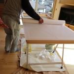 後日、和室の障子と押入れの戸襖の取り付け工事に内装屋さん。