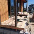 デッキ・木塀工事