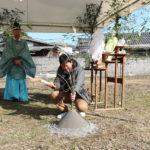 今回建てる予定の場所の一角に使用していない井戸が あるのでこれを地鎮祭の時にお祓いと神様にお帰りいただく 儀式を合わせて行うことにいたしました。