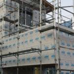 宇宿の家『建て方・構造用面材・上棟式』