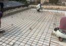 型枠も無事終わりコンクリートを流し込み、擁壁が完成いました。
